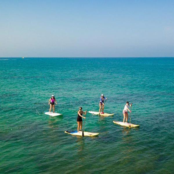 קורס גלישה וחתירה בסאפ - גל ים בחוף